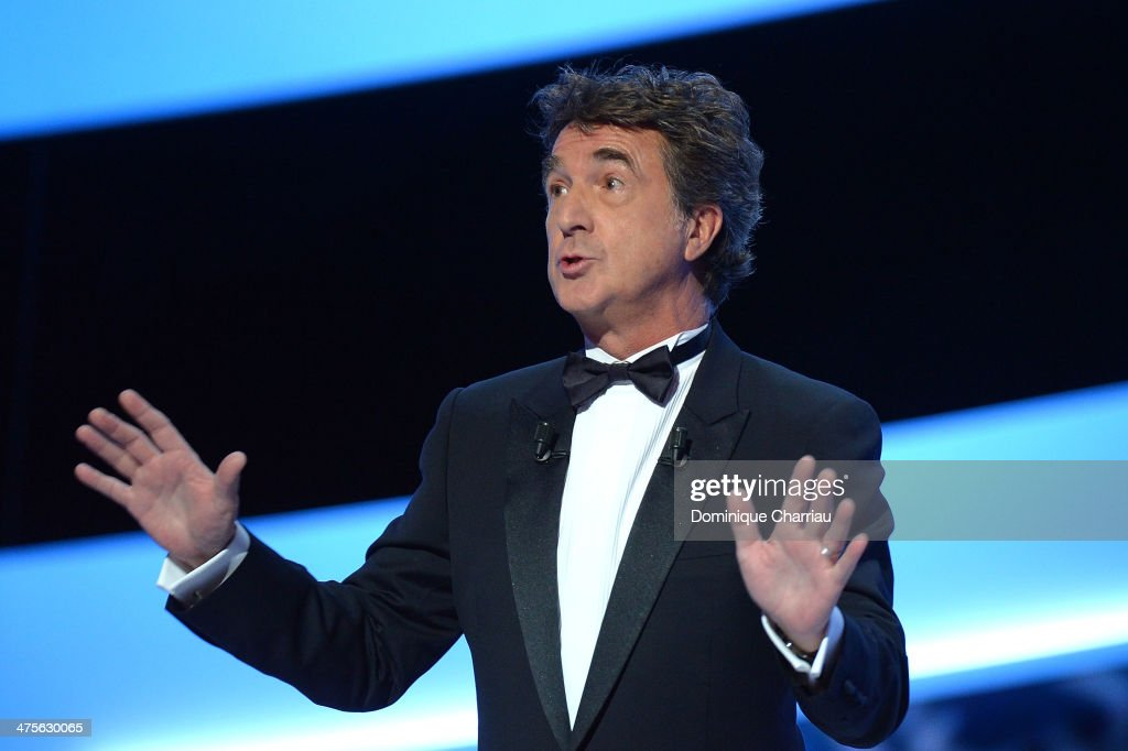 Ceremony host actor <a gi-track='captionPersonalityLinkClicked' href=/galleries/search?phrase=Francois+Cluzet&family=editorial&specificpeople=626602 ng-click='$event.stopPropagation()'>Francois Cluzet</a> speaks on stage during the 39th Cesar Film Awards 2014 at Theatre du Chatelet on February 28, 2014 in Paris, France.