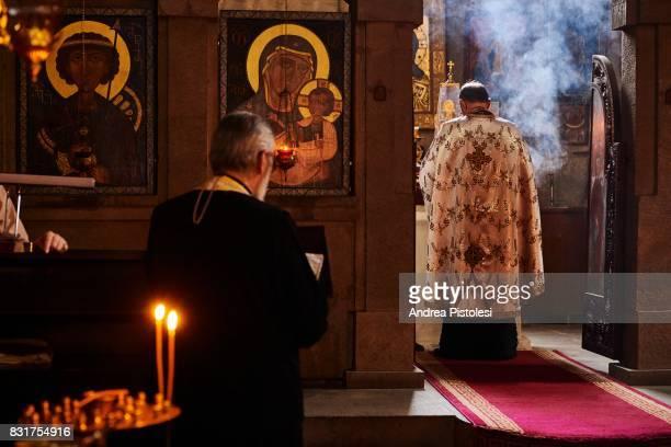 Ceremony in Anchiskhati Basilica, Tbilisi