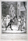 Ceremony in Vauxhall Gardens Lambeth London 1833 View of a benefit for CH Simpson who had been Master of Ceremonies at Vauxhall Gardens for 36 years