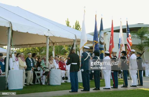 A ceremony is held in Hawaii on Dec 7 2017 to commemorate the victims of the 1941 Japanese attack on Pearl Harbor on its 76th anniversary ==Kyodo