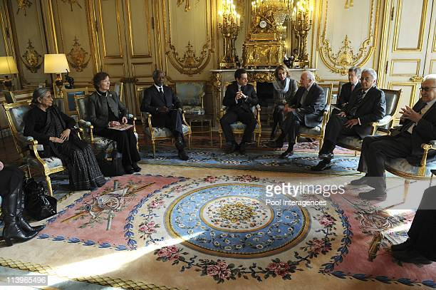 Ceremony marking the 60th anniversary of the Universal Human Rights Declaration In Paris France On December 08 2008French President Nicolas Sarkozy...