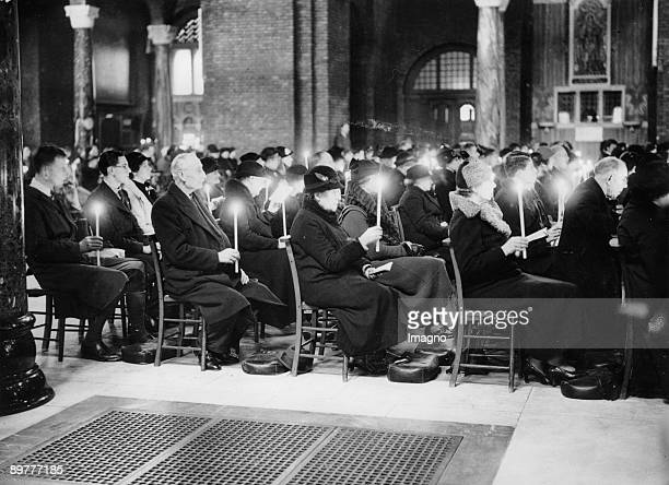 Ceremony of an Easter mass England Photograph Around 1930