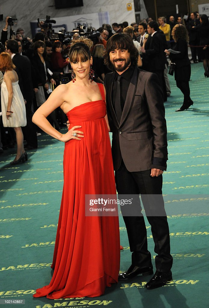 Ceremony of delivery of the cinematographic prizes 'Goya 2009', the actors Rosa Olucha and Santi Millan, First February 2009, 'Palacio Municipal de Congresos', Madrid, Spain,.