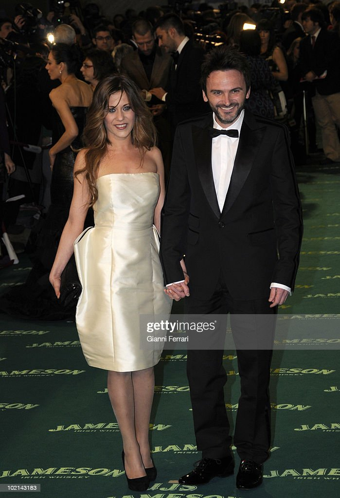 Ceremony of delivery of the cinematographic prizes 'Goya 2009', the actors Fernando Tejero and Maria Leon, First February 2009, 'Palacio Municipal de Congresos', Madrid, Spain,.