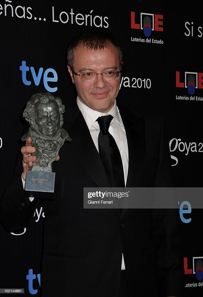 Ceremony of delivery of the cinematographic prizes 'Goya 2010', the director Daniel Monzon as the best film director for the movie 'Celda 211', 14th February 2010, 'Palacio Municipal de Congresos', Madrid, Spain.