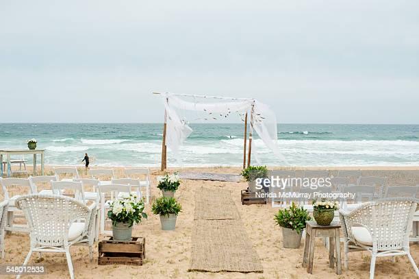 Ceremony set up on beach