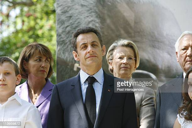 Ceremony to pay tribute to the abolition of slavery in Paris France on May 10 2008Christine Albanel Culture Minister French President Nicolas Sarkozy...