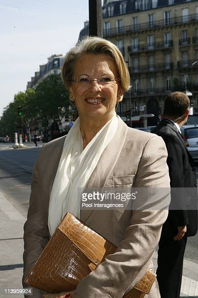 Ceremony to pay tribute to the abolition of slavery in Paris France on May 10 2008Michelle Alliot Marie interior Minister during the anniversary of...