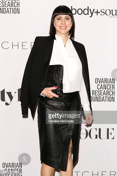 Ceri David arrives at the ORCF White Style At Quay on April 14 2014 in Sydney Australia Witchery are launching a white shirt collection proceeds from...