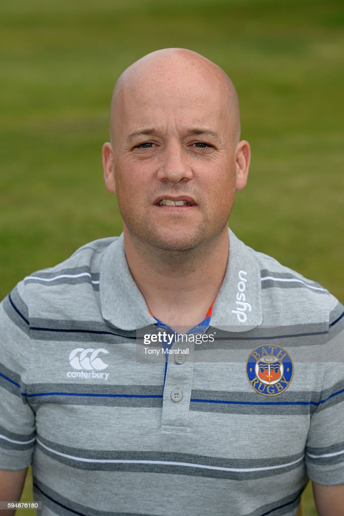 Cerian Parham Physiotherapist poses for a portrait during the Bath Rugby squad photo call for the 20162017 Aviva Premiership Rugby season on August...