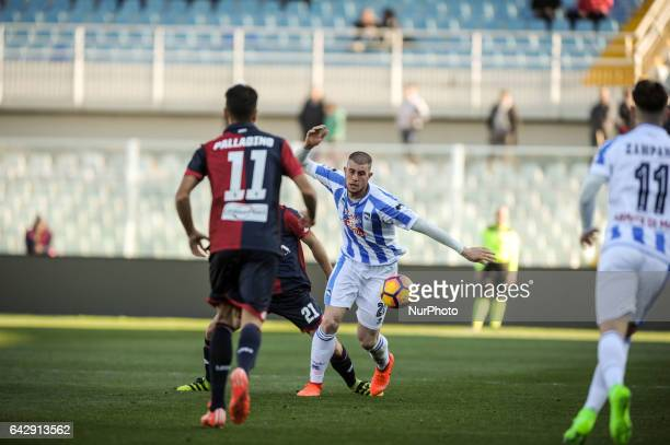 Cerri Alberto during the Italian Serie A football match Pescara vs Genoa on February 19 in Pescara Italy