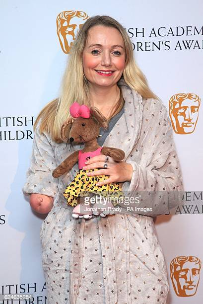 Cerrie Burnell arrives at the British Academy Children's Awards at the Roundhouse in Camden north London