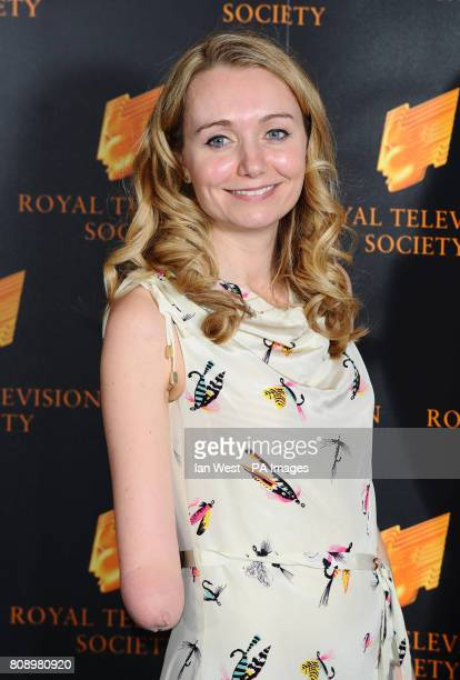 Cerrie Burnell arrives at the Royal Television Society Awards at the Grosvenor House Hotel in London