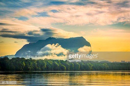 Cerro Yacapana from Pasiva River, Amazon State Venezuela