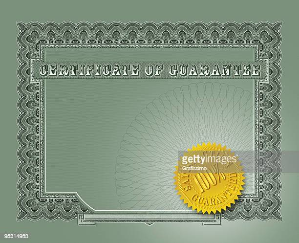 Certificate of guarantee with seal