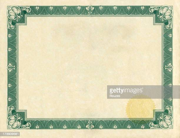 Certificate With Gold Seal