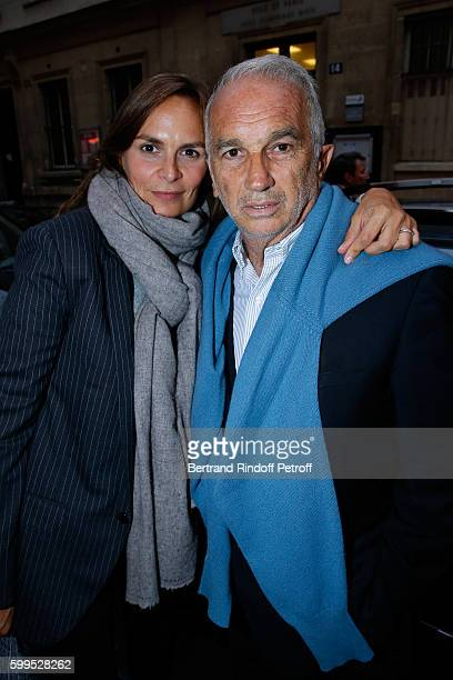 Cesar Academy President Alain Terzian and his wife Brune de Margerie attend the 'Cezanne et Moi' Premiere on September 5 2016 in Paris France