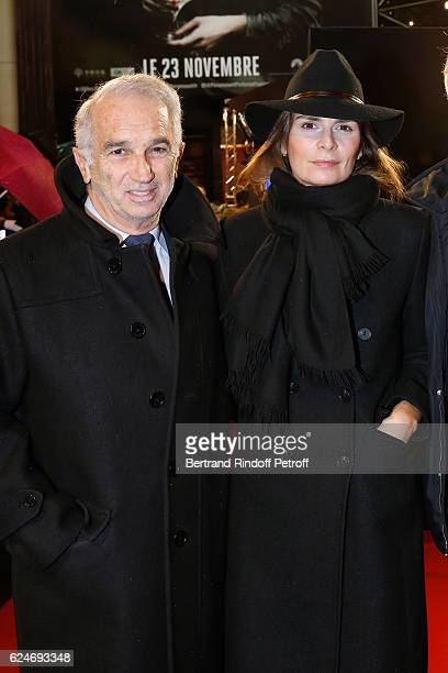 Cesar Academy President Alain Terzian and his wife Brune de Margerie attend the 'Allied Allies' Paris Premiere at Cinema UGC Normandie on November 20...