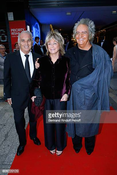 Cesar Academy President Alain Terzian Director of the movie Daniele Thompson and her husband Producer of the movie Albert Koski attend the 'Cezanne...
