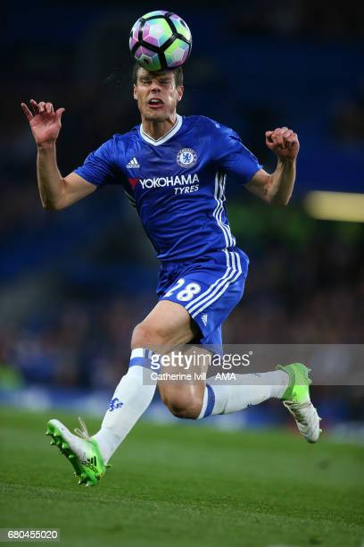 Cesar Azpilicueta of Chelsea during the Premier League match between Chelsea and Middlesbrough at Stamford Bridge on May 8 2017 in London England