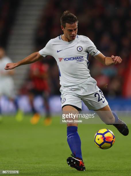 Cesar Azpilicueta of Chelsea during the Premier League match between AFC Bournemouth and Chelsea at Vitality Stadium on October 28 2017 in...