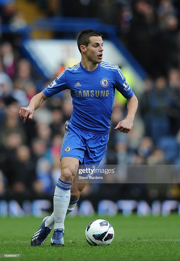 Cesar Azpilicueta of Chelsea in action during the Barclays Premier League match between Chelsea and West Ham United at Stamford Bridge on March 17, 2013 in London, England.