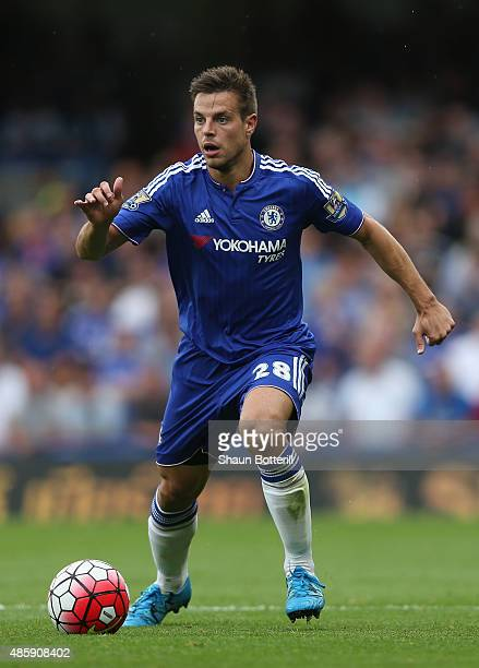 Cesar Azpilicueta of Chelsea in action during the Barclays Premier League match between Chelsea and Crystal Palace on August 29 2015 in London United...