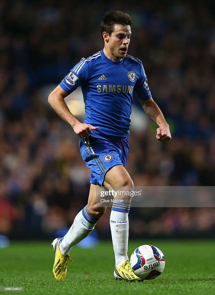 Cesar Azpilicueta of Chelsea in action during the Capital One Cup Semi-Final first leg match between Chelsea and Swansea City at Stamford Bridge on January 9, 2013 in London, England.