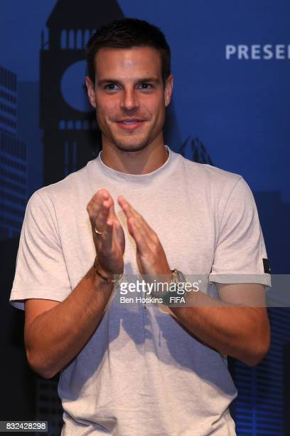 Cesar Azpilicueta of Chelsea looks on during the Media Presentation ahead of the FIFA Interactive World Cup 2017 on August 15 2017 in London England