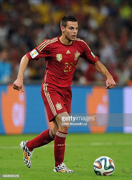 Cesar Azpilicueta of Spain in action during the 2014 FIFA World Cup Brazil Group B match between Spain and Chile at Maracana Stadium on June 18 2014...