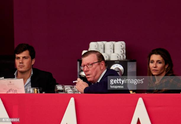 Cesar Cadaval with his wife Patricia Rodriguez and his son Cesar Cadaval Jr attend the Madrid Horse Week 2017 at IFEMA on November 23 2017 in Madrid...