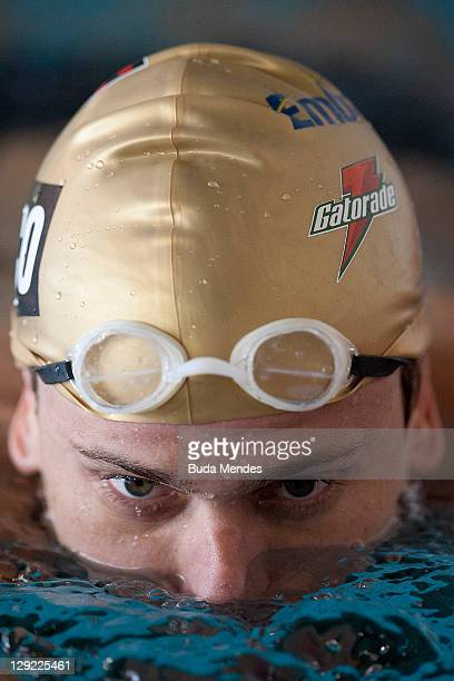 Cesar Cielo of brazilian national team of Swinming during a training session before the Panamerican Games Guadalajara 2011 at CODE 1 on October 14...