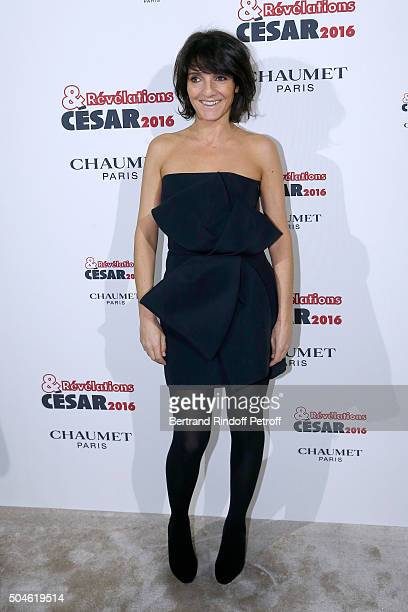 'Cesar Host' Florence Foresti attends the 'Cesar Revelations 2016' Photocall at Chaumet followed by a dinner at Hotel Meurice on January 11 2016 in...