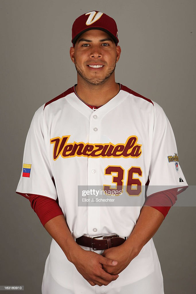 Cesar Jimenez #36 of Team Venezuela poses for a headshot for the 2013 World Baseball Classic at Roger Dean Stadium on Monday, March 4, 2013 in Jupiter, Florida.