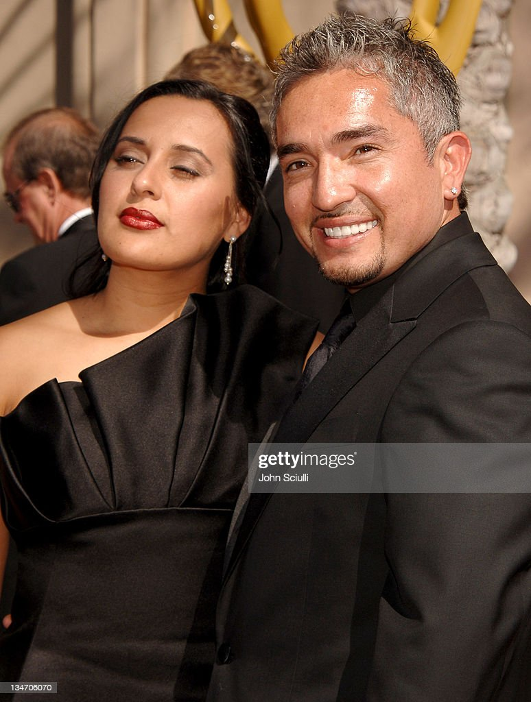 Cesar Millan and guest during 58th Annual Creative Arts Emmy Awards Arrivals at Shrine Auditorium in Los Angeles California United States