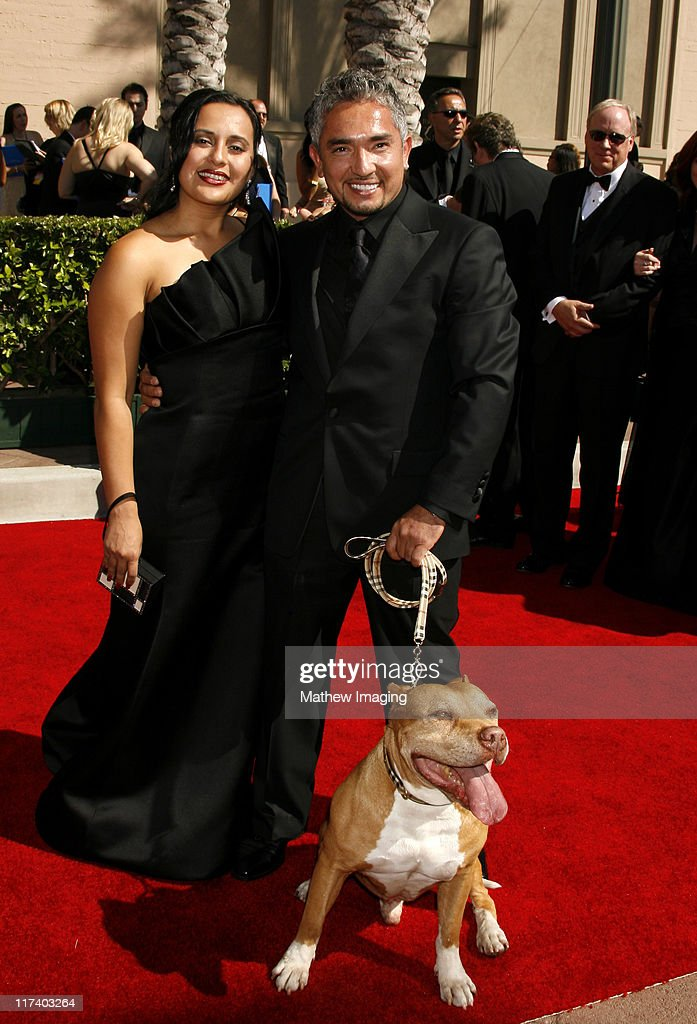 Cesar Millan and guests during 58th Annual Creative Arts Emmy Awards Arrivals at The Shrine Auditorium in Los Angeles California United States