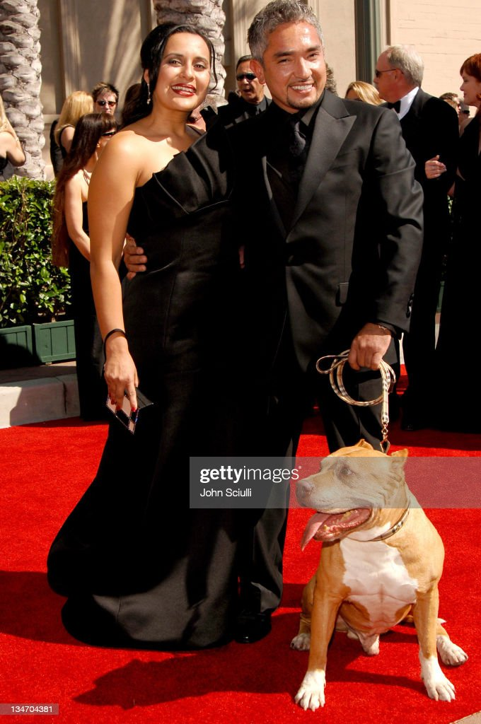 Cesar Millan and guests during 58th Annual Creative Arts Emmy Awards Arrivals at Shrine Auditorium in Los Angeles California United States
