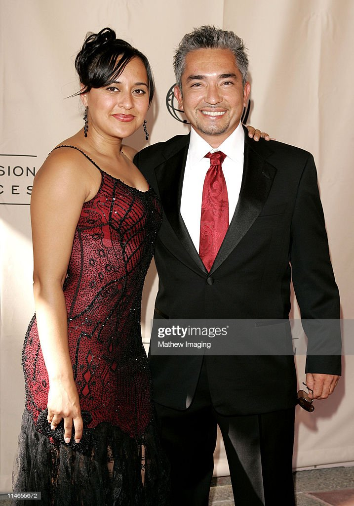 Cesar Millan and wife during 57th Annual Los Angeles Area Emmy Awards Arrivals Reception at Leonard H Goldenson Theatre in North Hollywood California...