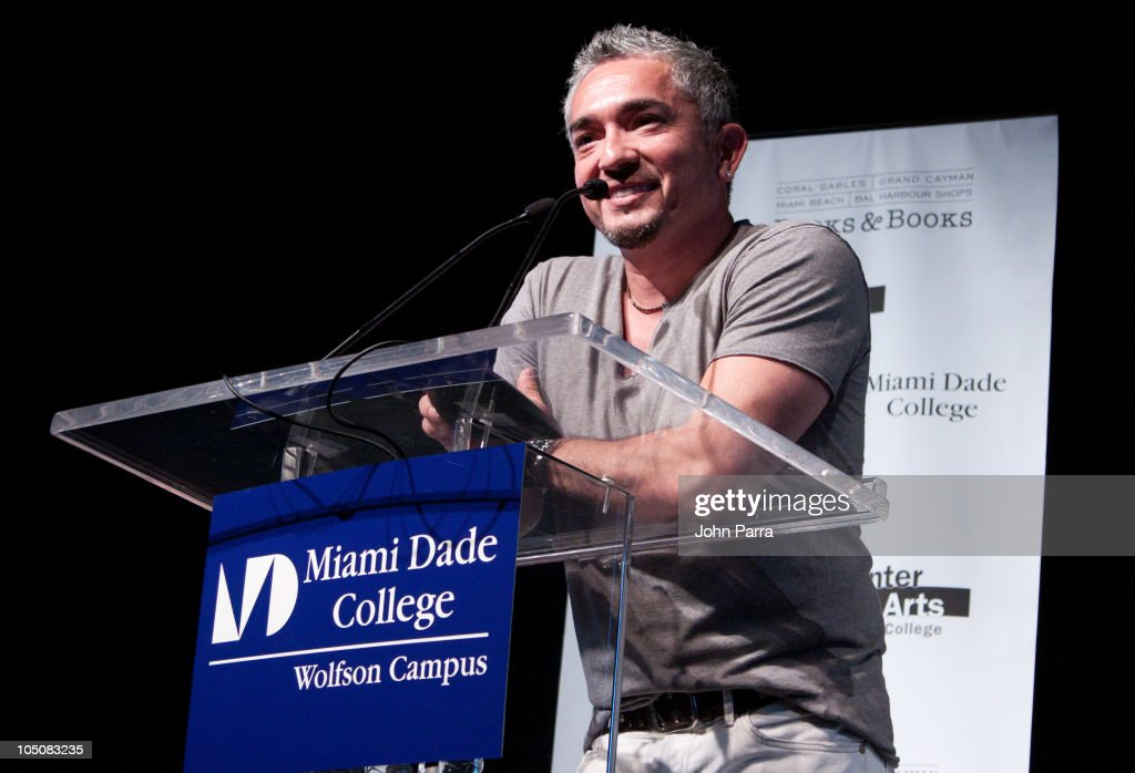 Cesar Millan discusses and signs 'Cesar's Rules Your Way to Train a WellBehaved Dog' presented by Books Books at Miami Dade College on October 8 2010...