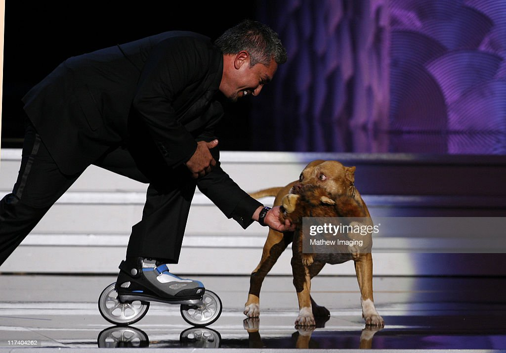 Cesar Millan presenter during 58th Annual Creative Arts Emmy Awards Show at The Shrine Auditorium in Los Angeles California United States