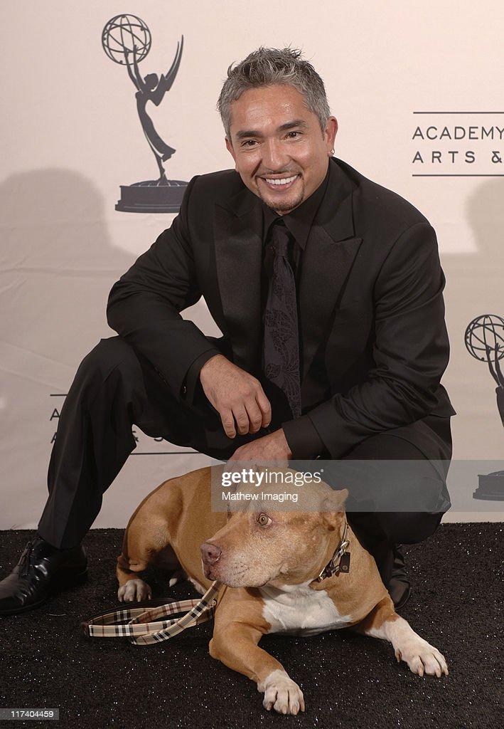 Cesar Millan 'The Dog Whisperer' during 58th Annual Creative Arts Emmy Awards Press Room at The Shrine Auditorium in Los Angeles California United...