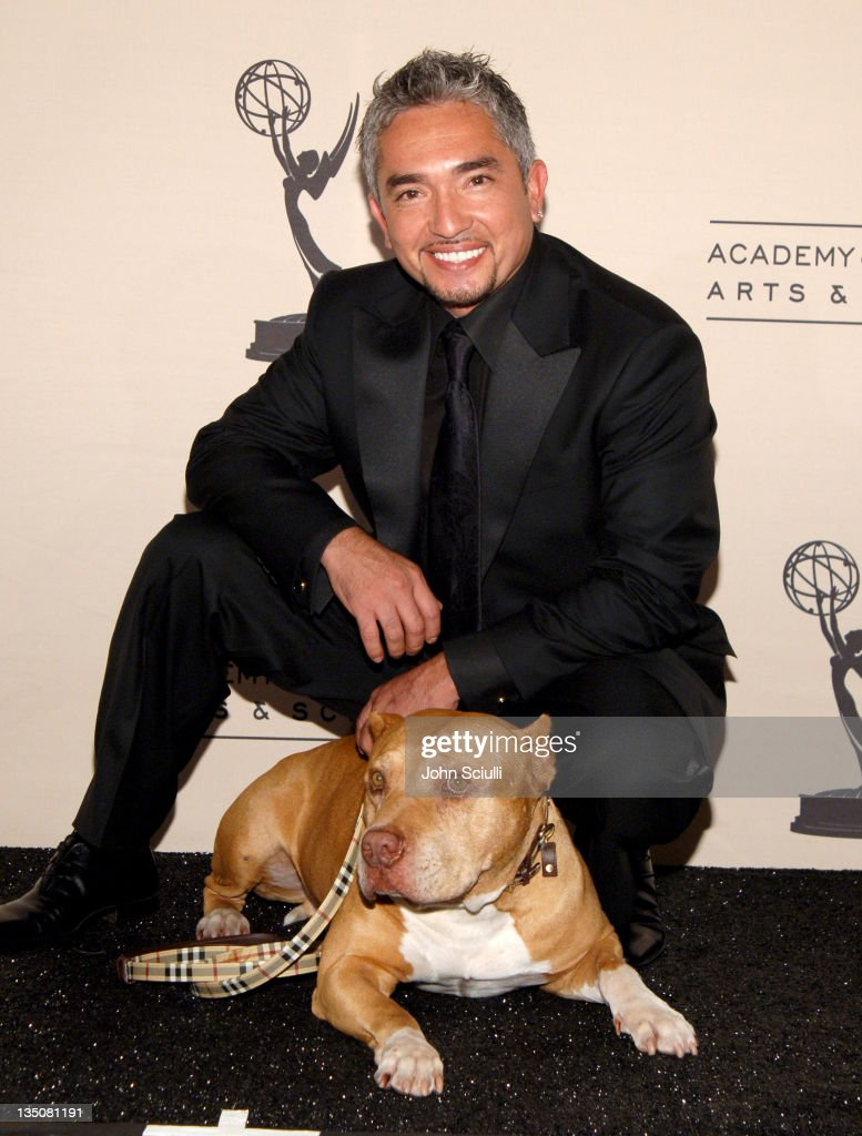 Cesar Millan 'The Dog Whisperer' during 58th Annual Creative Arts Emmy Awards Press Room at Shrine Auditorium in Los Angeles California United States
