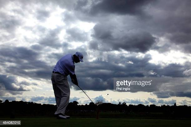 Cesar Monasterio of Argentina in action during the final round of the English Senior Open played at Rockliffe Hall on August 24 2014 in Durham United...