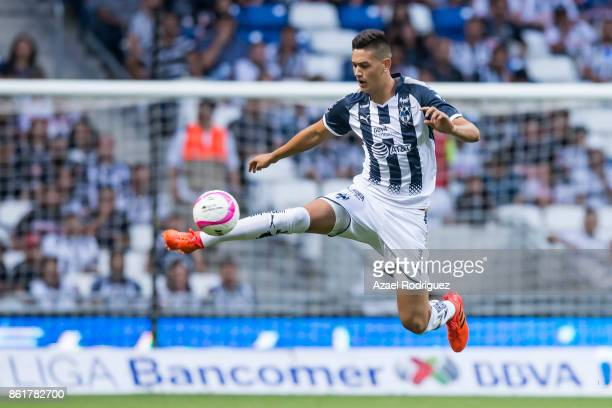 Cesar Montes of Monterrey controls the ball during the 13th round match between Monterrey and Pachuca as part of the Torneo Apertura 2017 Liga MX at...