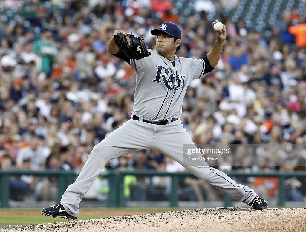 Cesar Ramos #27 of the Tampa Bay Rays pitches against the Detroit Tigers during the third inning at Comerica Park on July 3, 2014 in Detroit, Michigan.