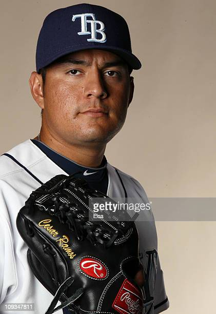 Cesar Ramos of the Tampa Bay Rays poses for a portrait during the Tampa Bay Rays Photo Day on February 22 2011 at the Charlotte Sports Complex in...