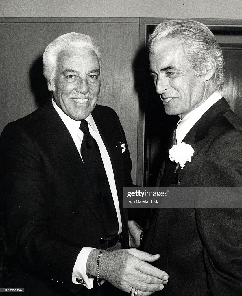 <a gi-track='captionPersonalityLinkClicked' href=/galleries/search?phrase=Cesar+Romero&family=editorial&specificpeople=90535 ng-click='$event.stopPropagation()'>Cesar Romero</a> and Rory Calhoun during Jimmy Durante's Funeral at Good Shepard Church in Beverly Hills, California, United States.