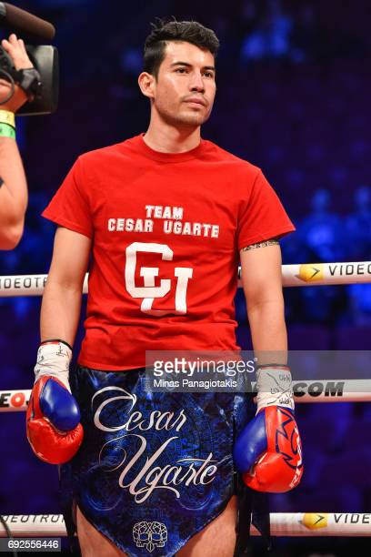 Cesar Ugarte looks on against Christian Mbilli prior to the middleweight match at the Bell Centre on June 3 2017 in Montreal Quebec Canada Christian...