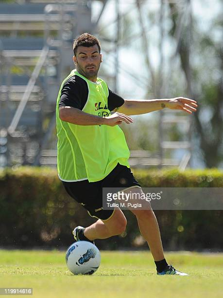 Cesare Bovo of Palermo attends a Palermo training session at Tenente Carmelo Onorato Sport Center on July 27 2011 in Palermo Italy