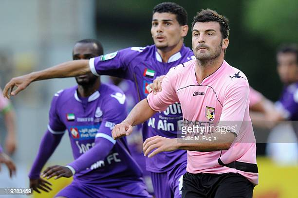 Cesare Bovo of Palermo competes during a preseason friendly match between US Citta di Palermo and AlAin FC on July 16 2011 in Bressanone near Bolzano...